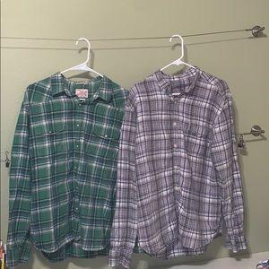 2 Men's Flannel Shirts